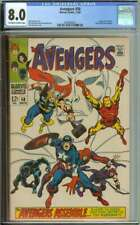 AVENGERS #58 CGC 8.0 OW/WH PAGES