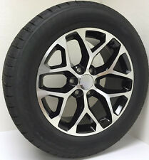"Set 4 New 20"" Black and Machine Snowflake Wheels Tires Chevy Z71 Suburban Tahoe"