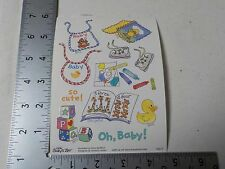 SUZY'S ZOO OH BABY BIBS DUCK BLOCKS SHOES STICKERS SCRAPBOOKING NEW A2842
