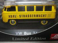 ULTRA RARE SCHUCO VW T1 MINIBUS ADAC GERMAN AA YELLOW 1:43 OBSOLETE 1/1000
