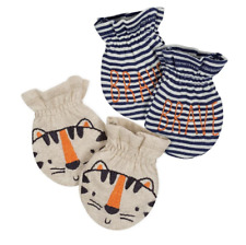 Gerber Baby Boys 2-pack Mittens, Tiger (Size: 0-3 Months)