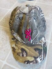 BROWNING Pink & Camo HAT Cap Embroidered Camouflage For Her Realtree Buck Gun