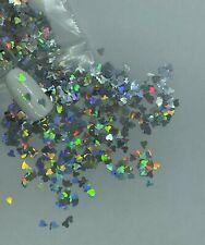 Valentine's Holographic Silver Heart Nail Glitter | 1 TSP | Nail Art & Acrylic