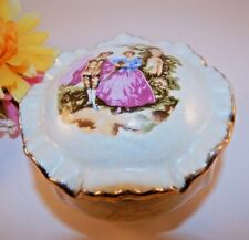 Trinket Box Jewelry Keeper French Provincial Boudoir Home  Decor Vintage 1960s