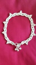Sterling Silver Anklet. Traditional, Bollywood 925