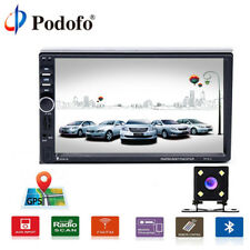 "7"" 2DIN Autoradio Touch MP5 Car Media Player BT GPS AUX/USB/TF/FM Radio + camara"