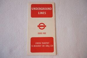 1945 No. 1 Railway Map Harry Beck London Transport Underground Lines Tube VGC