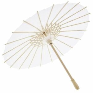 6 Pack White Paper Parasol Umbrella for Wedding DIY Crafts Party Decor 15.7 in
