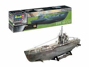 German Submarine Type VII C/41 Platinum Edition Level 5 Revell 1:72 Revell Mo...