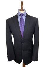 TM LEWIN 42 REG GREY BUSINESS SUIT,LUXURY SUPER 100s MERINO WOOL FABRIC W36