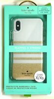 kate spade new york Slim Clear Case for iPhone X and XS - Gold-Clear Stripes