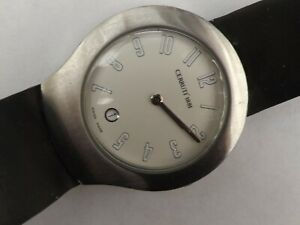 a gent stainless steel cased cerruti quartz watch