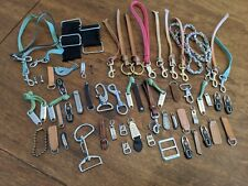 Lot Of Purse Bag Repair Parts Pulls Leather Brown