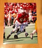 NEBRASKA FOOTBALL CORNHUSKER AARON GRAHAM #54 SIGNED PHOTO HUSKER HOF 2005 CHAMP