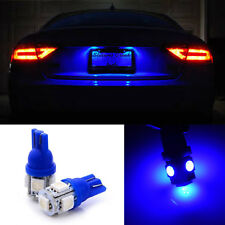 1 pair Super Blue 10-SMD License Plate Tag T10 Wedge LED Light Bulbs W5W 192 168