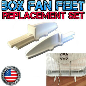 Box Fan Replacement Feet 3D Printed Fit Lasko and Other Brands USA Made White