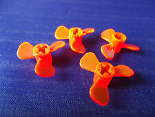 PART 6041 TRANS ORANGE/RED 3 BLADE PROPELLERS x 4