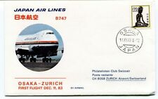 FFC 1983 Japan Airlines First Flight Osaka Zurich Boeing 747