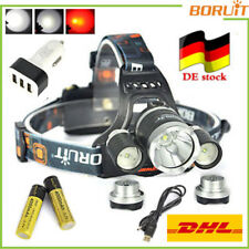 CE BORUiT 40W BORUiT® Stirnlampe 13000LM XM-L L2 T6 3LED HeadLamp 4000mAh 18650