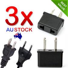 3x USA US EU JAPAN ASIA to AU Australia Plug AC Power Adapter Travel Converter