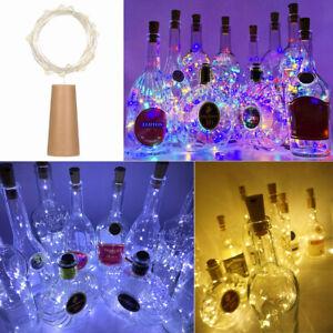 10/20 LED String Battery Copper Wine Bottle Cork Wire Fairy Lights  Waterproof