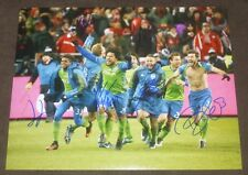 Seattle Sounders Fc 2016 Mls Cup Champions Goal Celebration Signed 11x14 Photo