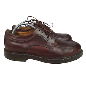 Clarks  Oxford Mens  9.5M Brown Leather Apron Toe Casual Shoes Made in Italy
