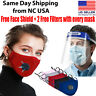 Face Mask Cotton Reusable Air Purifying Washable Mask Haze Pollution+face shield