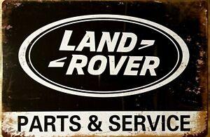 LANDROVER Rustic Metal Tin Sign. Vintage Rustic Garage,  Bar & Man Cave