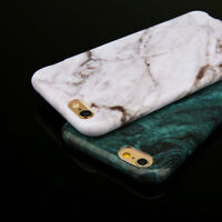 Ultrathin Marble Pattern Soft Silicone TPU Gel Case Cover For iPhone Samsung S9