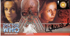 Doctor Who Armageddon Factor Classic Stamp Cover Signed MARY TAMM & LALLA WARD