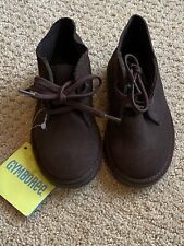 Boys Gymboree Brown Suede Chukka Boots Shoes - New - Size 6