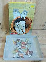 Vintage 80s Childrens Puzzle SEALED Cats & Dogs Waddingtons 100 Pieces