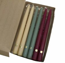 """PartyLite 10"""" Tapered Candles Assorted Burgundy Green Tan Scented New In Box"""