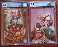 Venom #11 Variant & Avengers #687 Venom covers with Custom Labels. CGC 9.8s