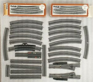 """Tyco HO Scale Track """"Tru-Steel"""" assorted straight, curved and switching"""