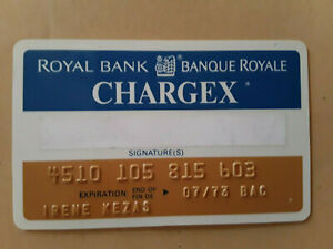 Vintage Expired 1977 Royal Bank Chargex Credit Card