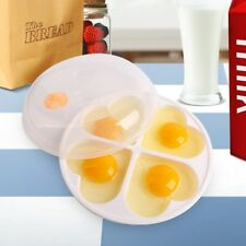 Egg Heart-Shape Poacher Microwave Oven Cooker Steamer Kitchen Cookware