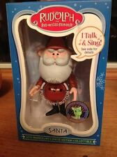 Rudolph Red Nosed Reindeer Talking Santa 50th Anniversary Limited Edition Each #