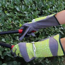 G-TUF Long Cuff Garden Gloves w/ Adjustable Wrist Strap - GRN