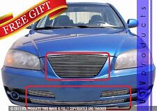 GTG Polished 4PC Replacement Billet Grille fits 2004 - 2006 Hyundai Elantra