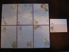 Care Bears HANDMADE Stationary paper envelopes vintage
