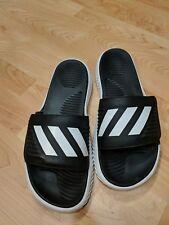 adidas Alphabounce Slide Black White Men 11 Sandal Slides Slippers BA8775 GUC