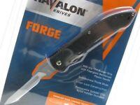 Havalon 60ARHB Black Forge Folding Hunting Knife + Nylon Sheath + 6 Blades