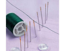 12 SELF THREADING SEWING NEEDLES EASY THREAD HAND SEWING NEEDLEWORK REPAIRS NEW