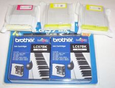 3 + 2 x Brother genuine LC57: LC57BK,LC57M,2xLC57Y for DCP-560CN,FAX-2480C++