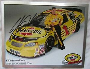 2001 Signed Nascar Driver Steve Park #1 Pennzoil Racing Promotional Picture 8 x