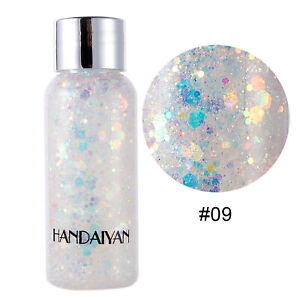 35g Mermaid Mix Glitter Body Gel For Face Nail Body Art Stage Party Makeup