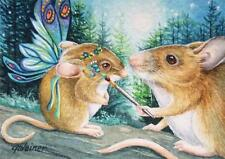 40% OFF SALE! ACEO Limited Edition Print Mouse Mice Fairy Costume Face Painting
