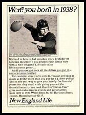 1965 New England Life Insurance 1938 Davey O'Brien TCU All-American QB Print Ad